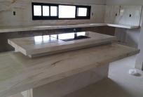 Quatzito Bianco Superior - Residencia Sra. Elizangela - Cidade de Jaragu�